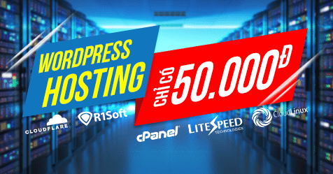 hosting wordpress gia re 50k
